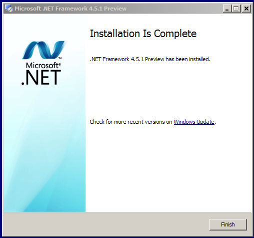 Microsoft .NET Framework 4.5.1 Preview