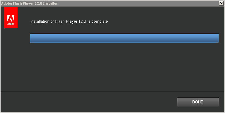 Adobe Flash Player 12.0 Installer